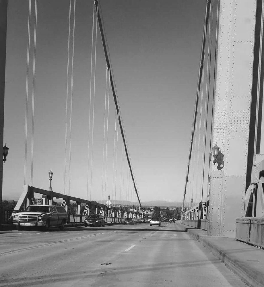 Photo in Black and White #bridge #black #and #white