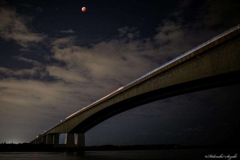 Photo in Landscape #blood #japan #moon #night #shizuoka