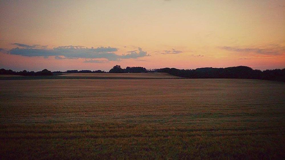 Photo in Landscape #sunset #fields #denmark #danmark #jutland #mit jutland #colours #colors #tranquil #peaceful