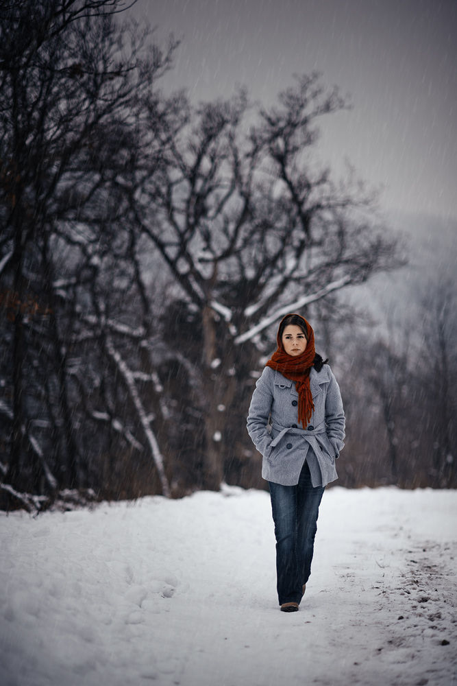 Photo in Portrait #winter #snow #people #portrait #woman #girl #forest #cold