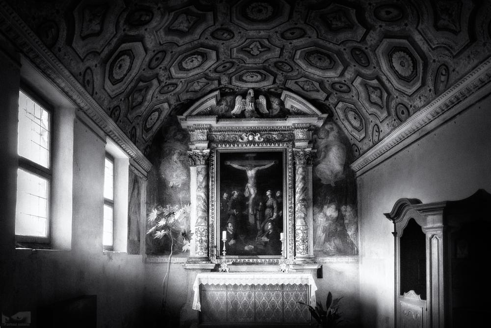 Photo in Black and White #switzerland #ticino #morcote #lighting #church