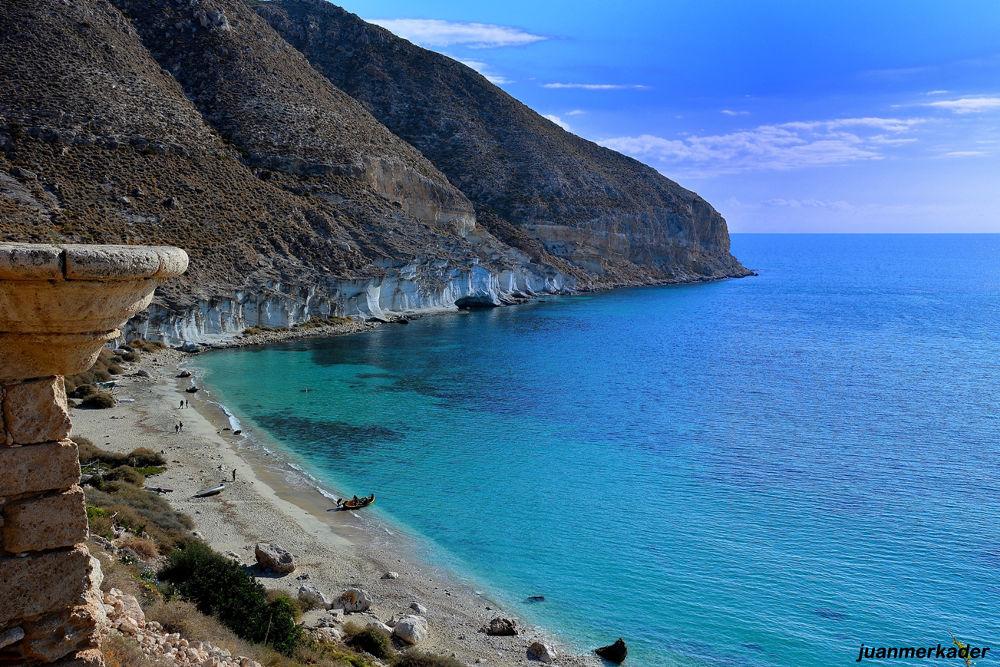Photo in Sea and Sand #españa #spain #andalucía #almería #cala san pedro #mar #sea #playa #beach #ocean #océano #picture #travel #nature #nikon #nikon d7100