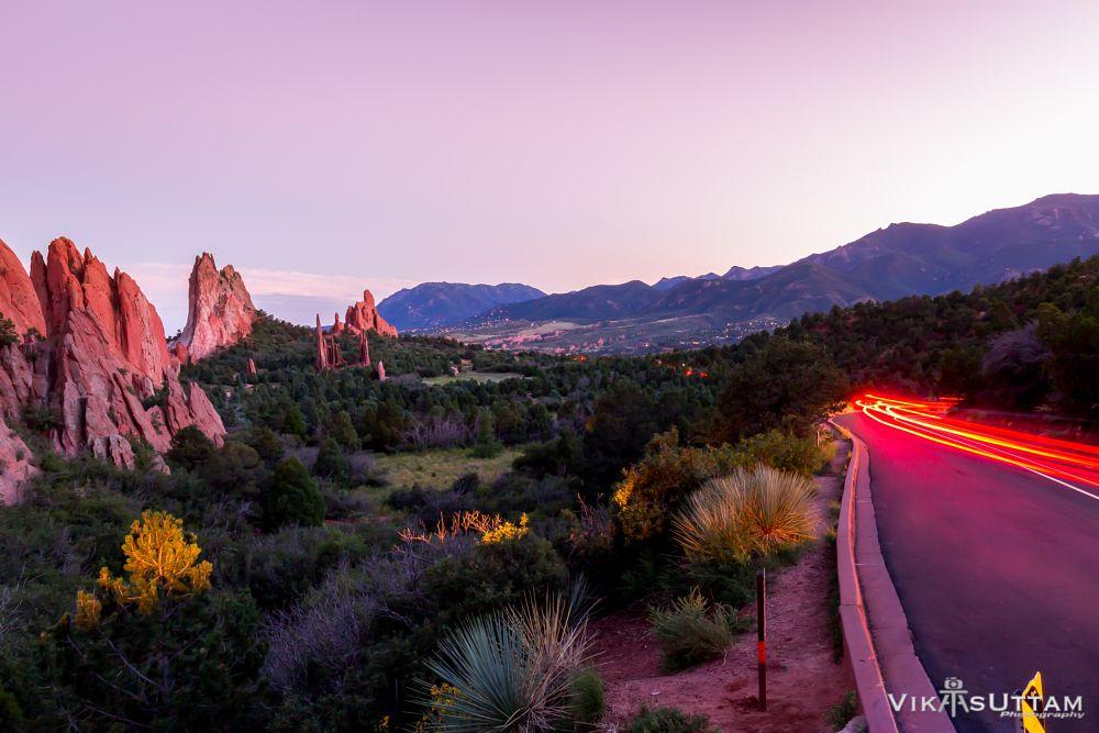 Photo in Landscape #light #trail #nature #landscape #longexposure