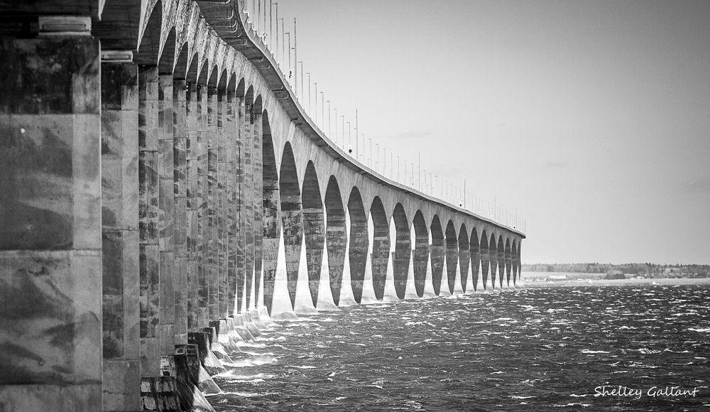 Photo in Architecture #confederation bridge #prince edward island #pei #northumberland straight #new brunswick #fixed link #8 miles #12.9k #borden #cape jourmain #ferry #water #travel