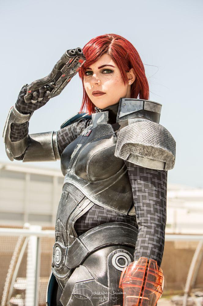Photo in Portrait #cosplay #romics #portrait #adventure #gun #red #hair #space #ritratto