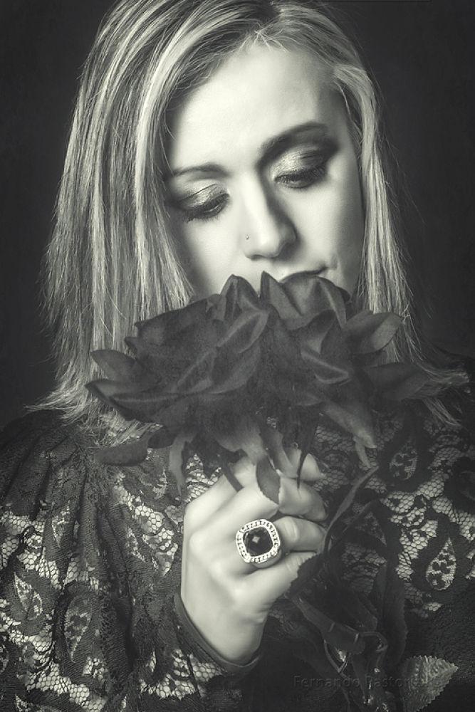 Photo in Portrait #portrait #canon #goth #rose #black