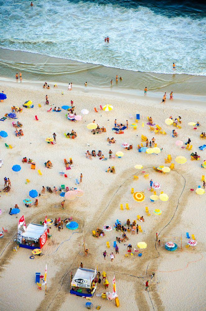Photo in Travel #rio #brasil #beach #yellow #blue #color #ocean #travel