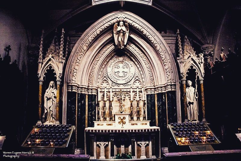 Photo in Interior #nyc #catholic church #catholicism #idolatry #new york city #idols