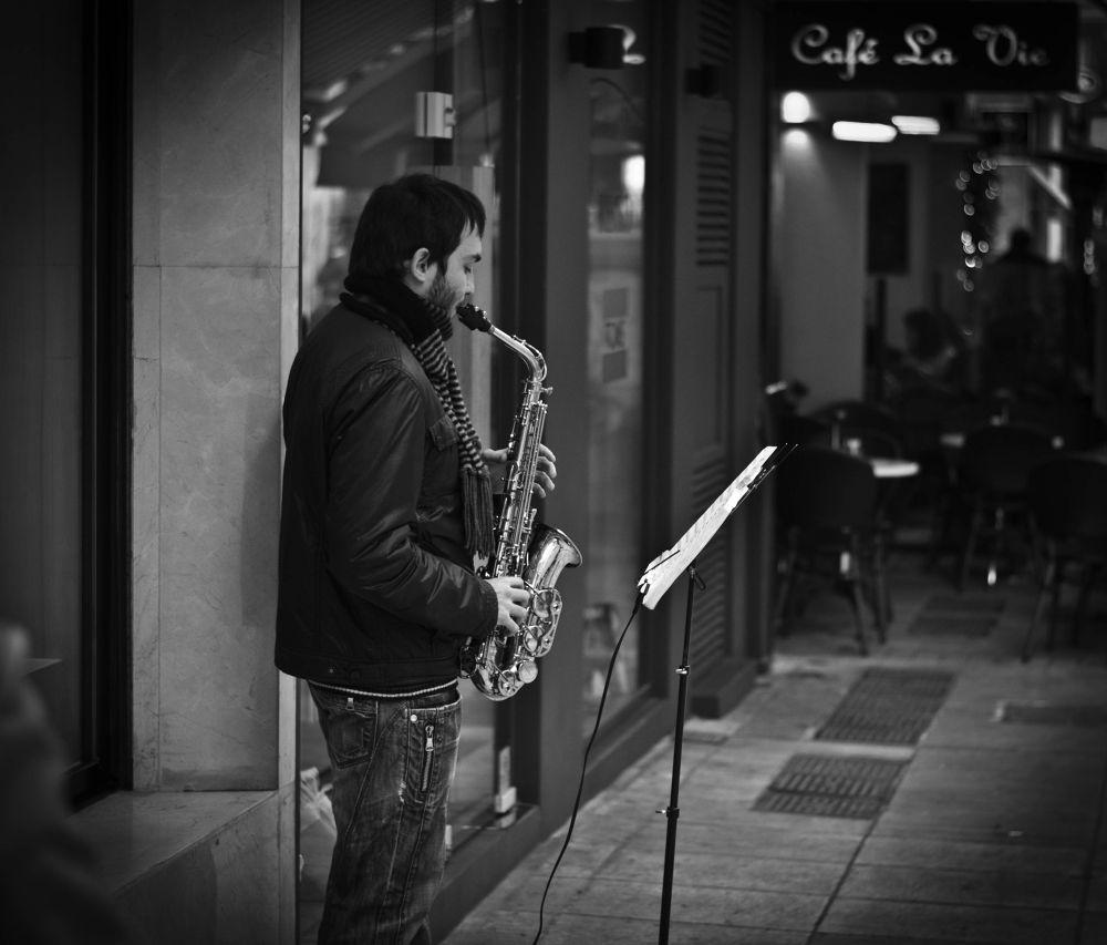 Photo in Street Photography #street #music #jazz #saxophone