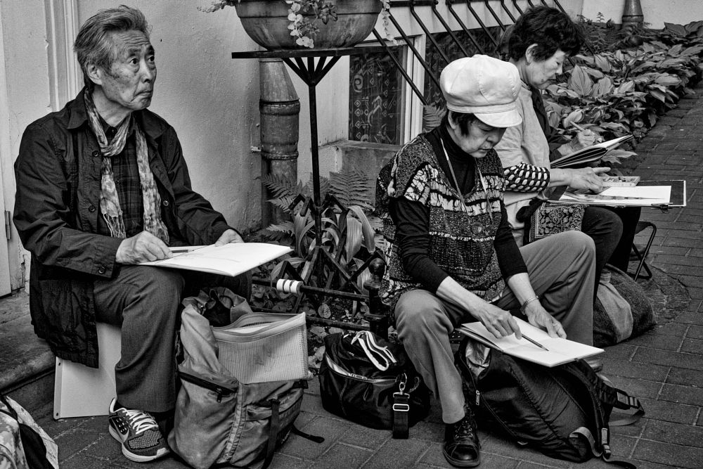 Photo in Black and White #artists #black and white #street photography #fujix #city