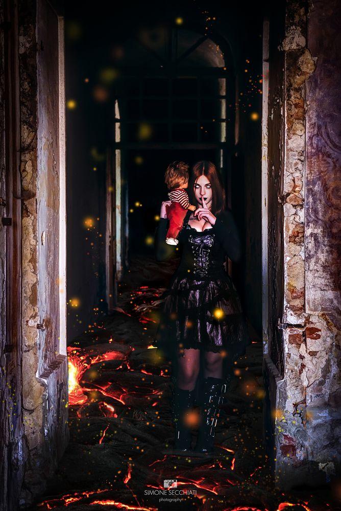 Photo in Abstract #doom #fire #composit #portrait #dark #gothic