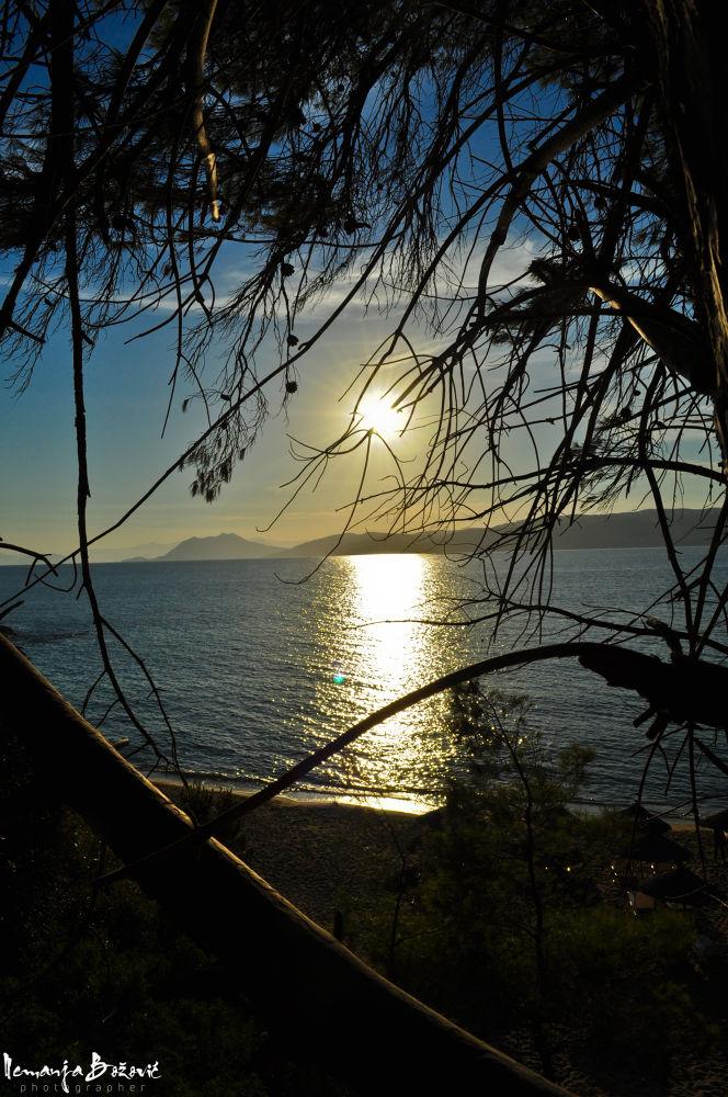 Photo in Random #beach #sea #sunset #holiday #skiathos