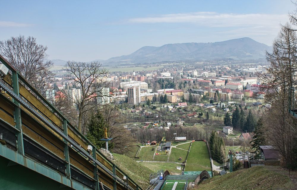 Photo in Landscape #jiri raska #ski jumping #beskydy mountains #town #moravia #czech republic
