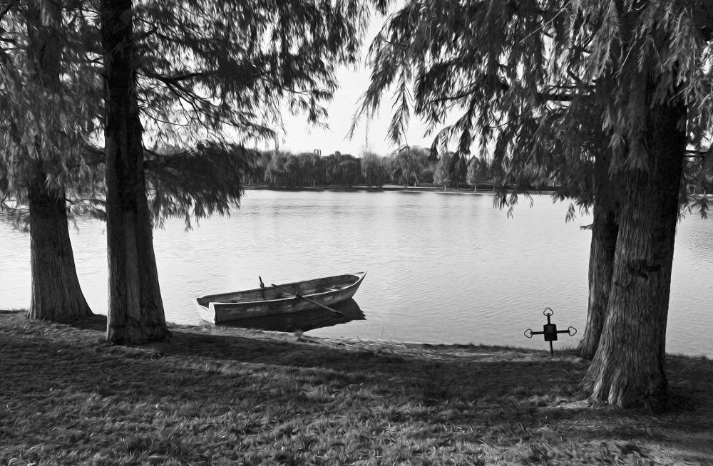Photo in Travel #boat #cross #trees