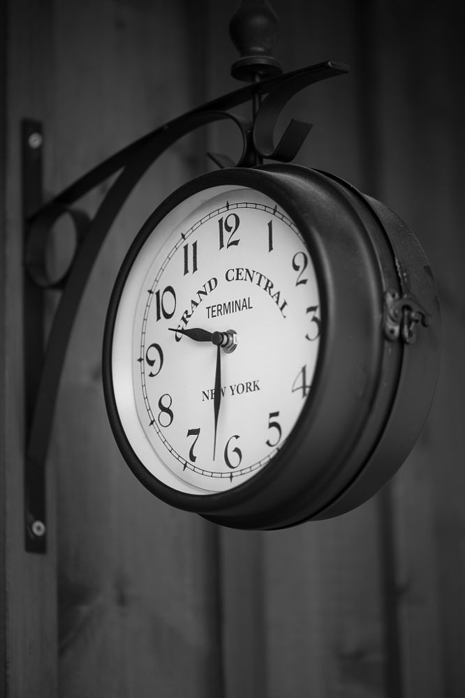 Photo in Black and White #clock #black and white #still life