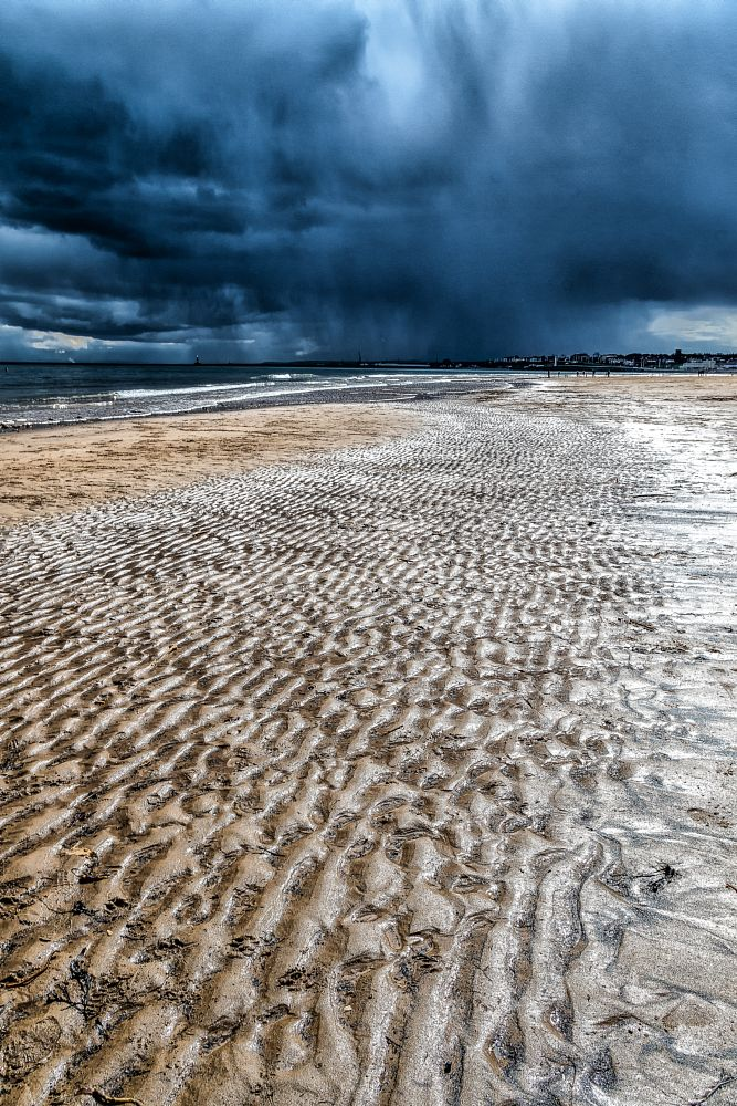 Photo in Sea and Sand #sea #seascape #moody #storm #beach #light #pattern #texture #contrast #landscape #sunderland