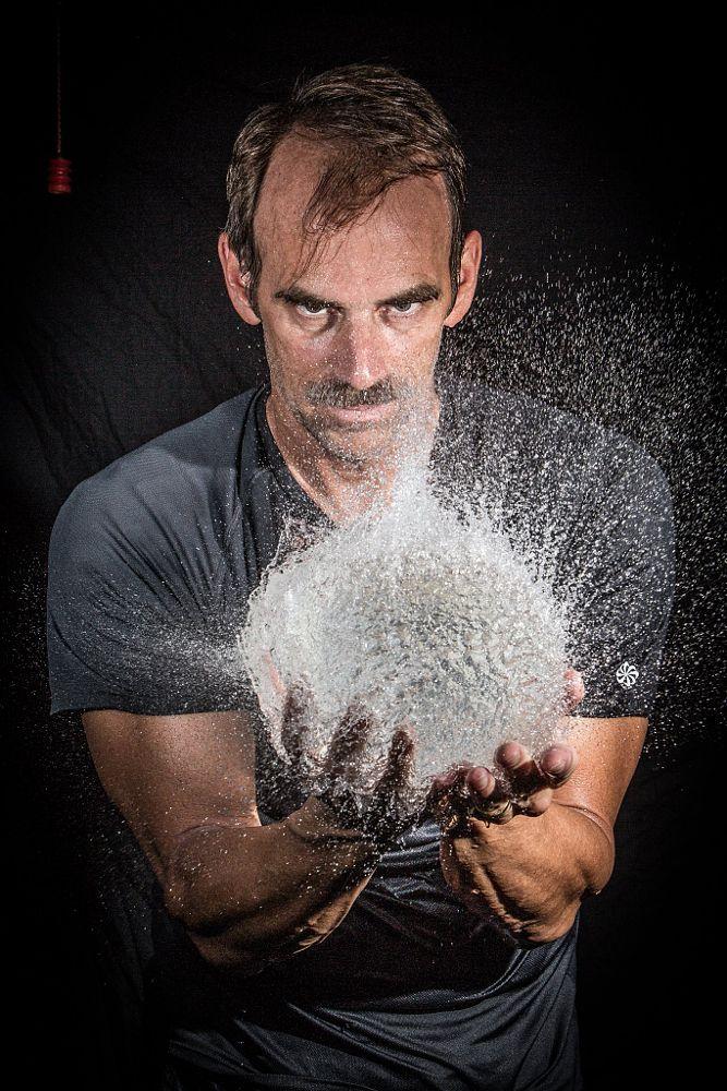 Photo in Portrait #portrait #water balloon #high speed