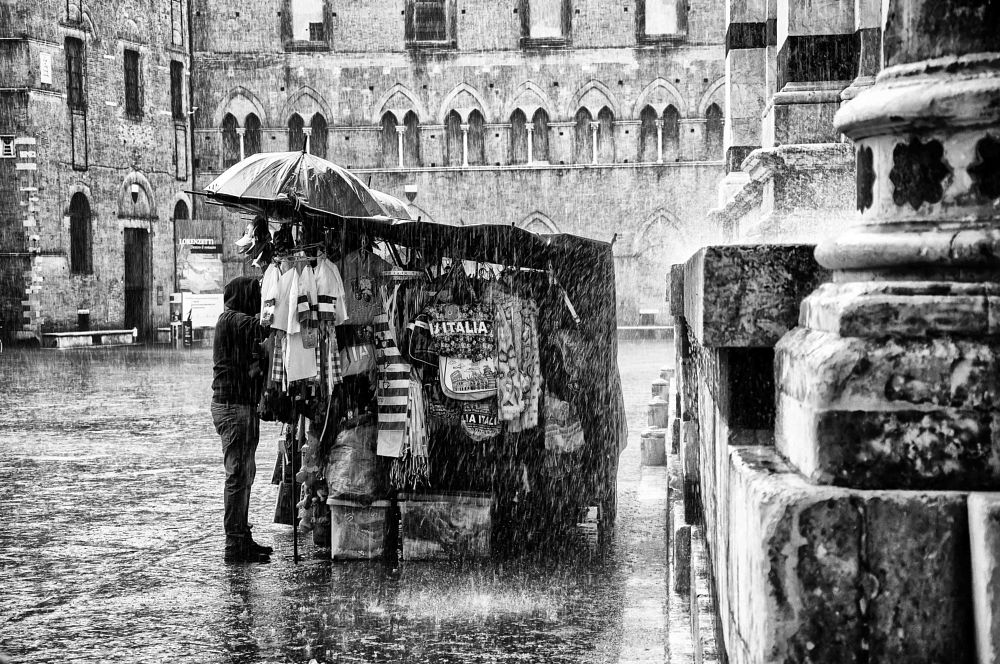 Photo in Black and White #italy #siena #tuscany #rain #weather #travel