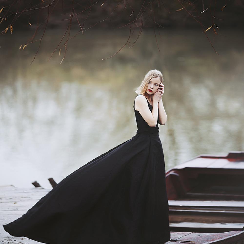 Photo in People #people #portrait #beauty #dreamy #dress #nature #water