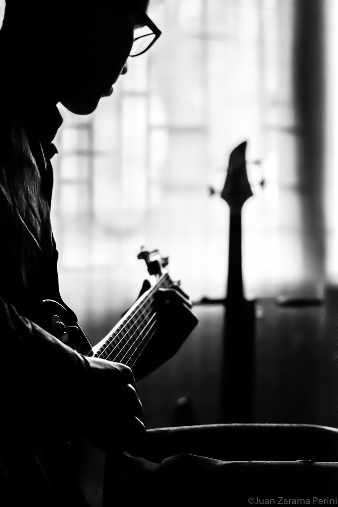 Photo in Concert #music #guitart #guitar player #portrait #casual