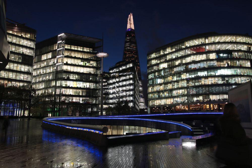 Photo in Cityscape #shard #london #city #night