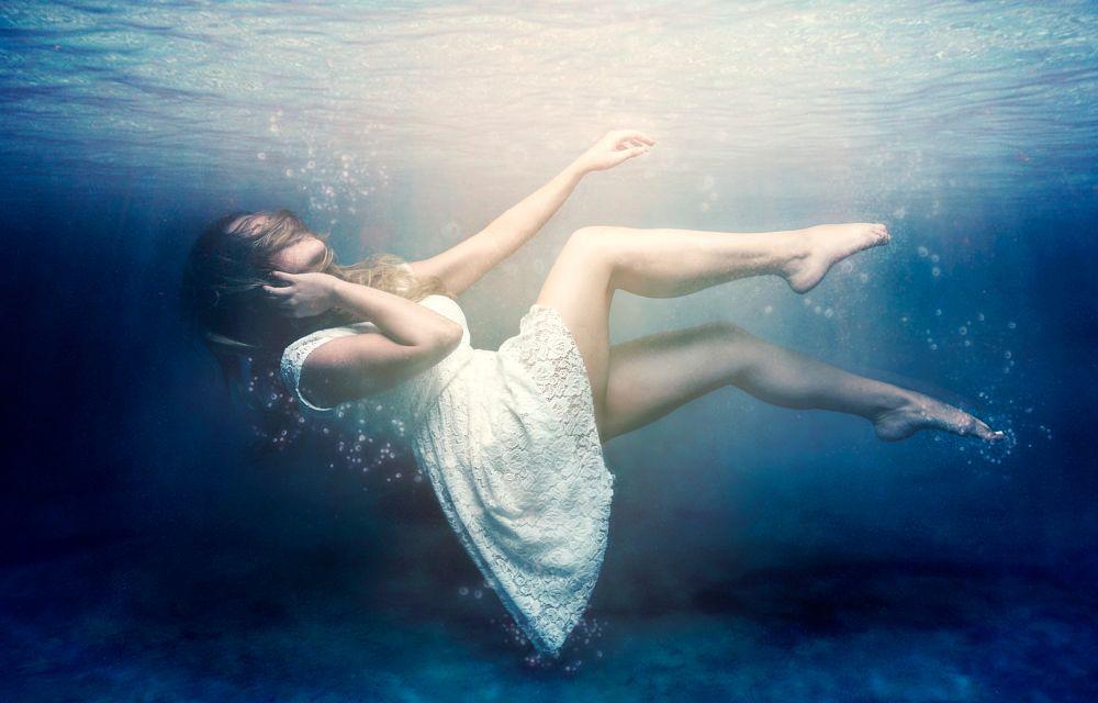 Photo in Fine Art #water #underwater #beauty #love #art #blue #deep #mood #photograph #photography #photographer #selfie #self-portrait #portrait #composing