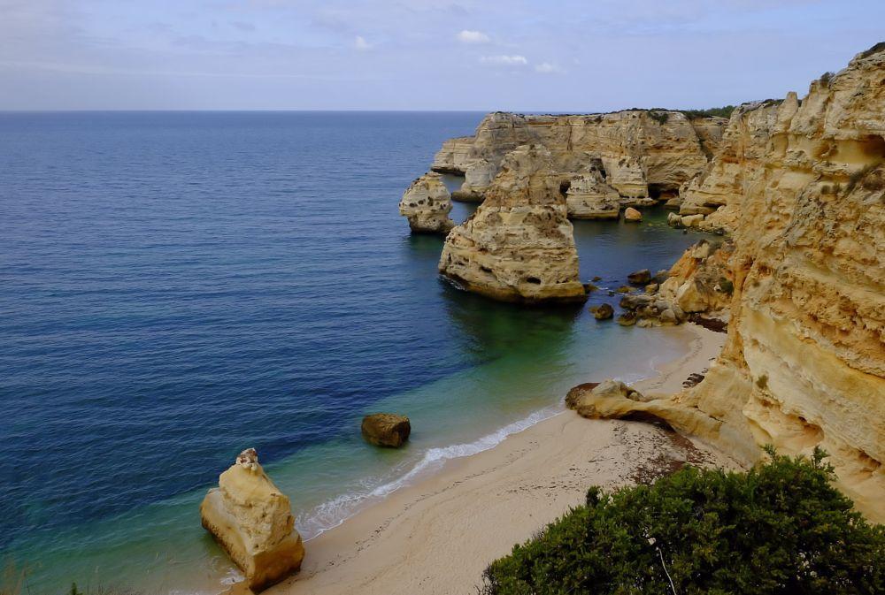 Photo in Sea and Sand #sea #sand #beach #marinha beach #algarve