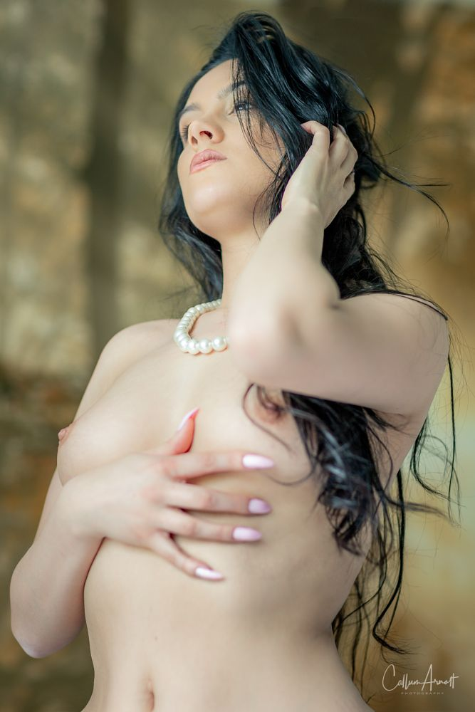 Photo in Nude #sexy #beauty #natural light #model #girl #brunette #breasts #nipples #nude