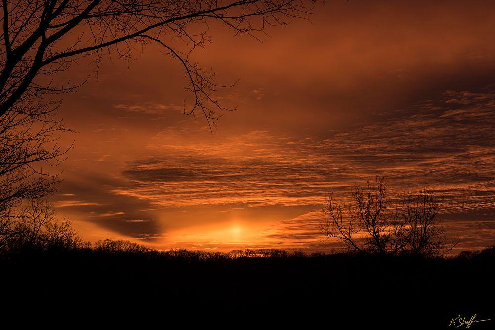 Photo in Nature #sunset #winter #solstice #goldenhour