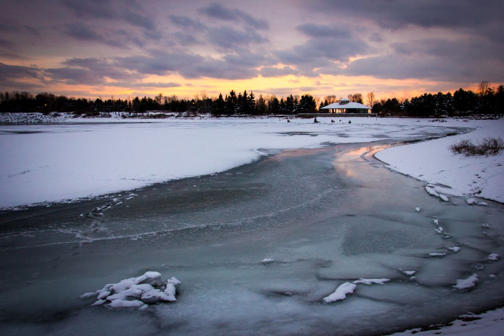 Photo in Landscape #sunset #winter #ice #cold