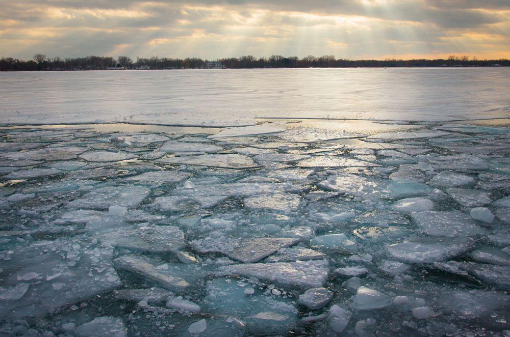 Photo in Landscape #ice #winter #toronto #lake