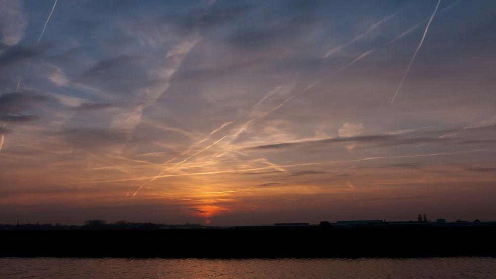 Photo in Landscape #sunrise #bollenstreek #katwijk #voorhout #nikon