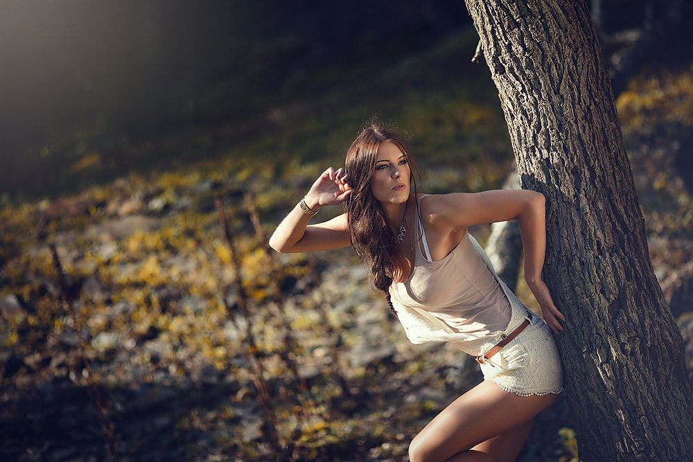Photo in Fashion #woman #woods #forest #beauty #sexy #effjot