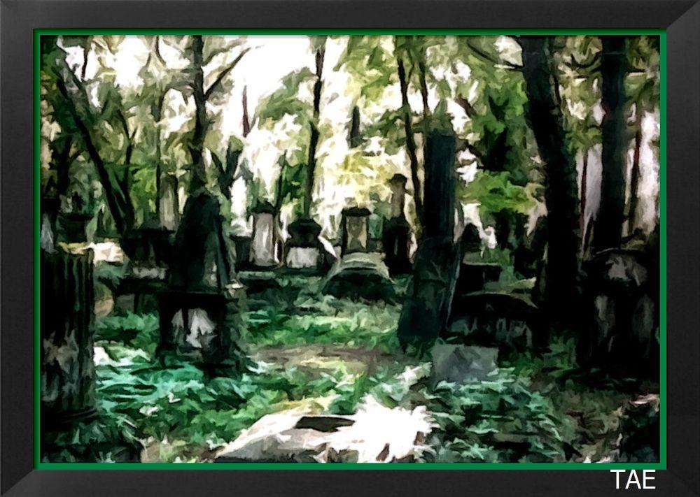 Photo in Random #art #oil #painting #old #cemetery #fine #canvas #dresden