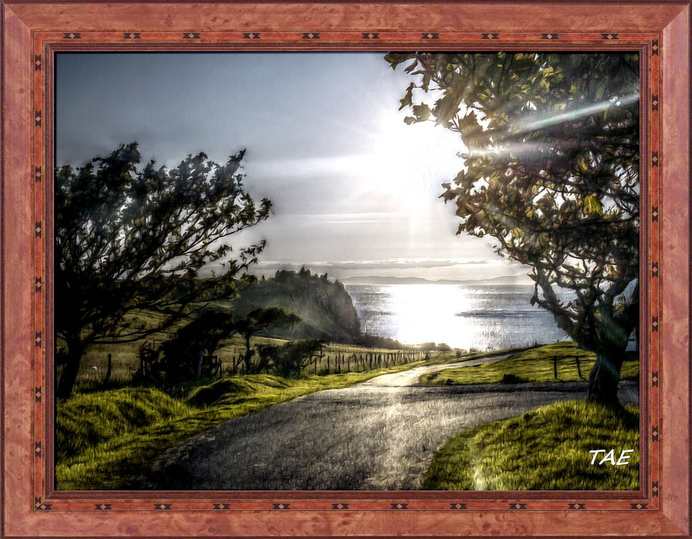 Photo in Random #art #oil #painting #castle #sunset #scotland #fine #canvas #skye #isle