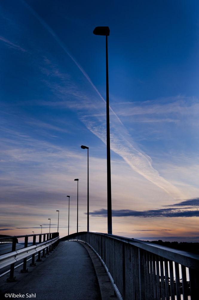 Photo in Random #bridge #road #sunset #street lights