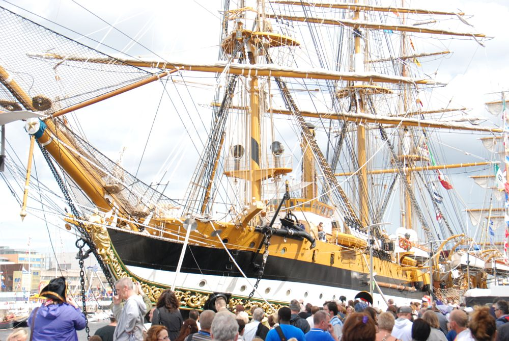 Photo in Random #tall ships #dublin #port #ship