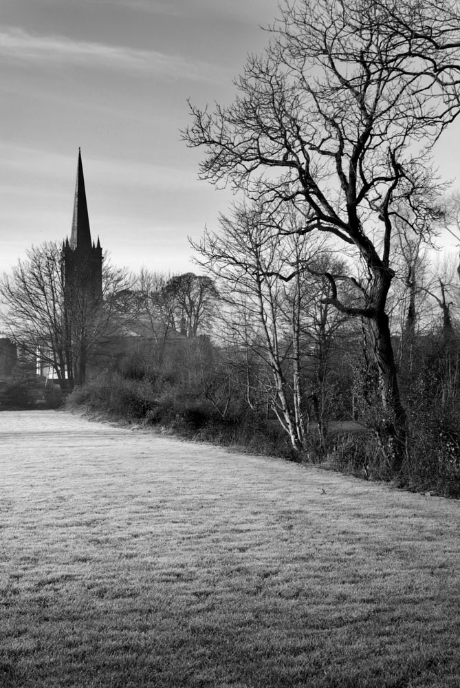 Photo in Black and White #church #old #b/w