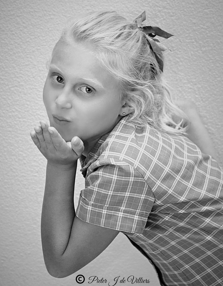 Photo in Black and White #black & white #portrat #girl #blonde #blue eyes #portrait #canon #sigma