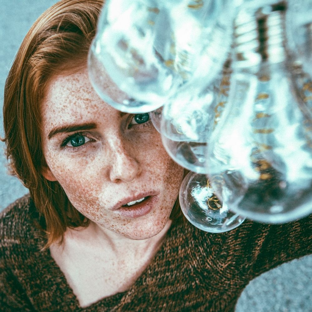 Photo in People #freckles #redhead #bulbs
