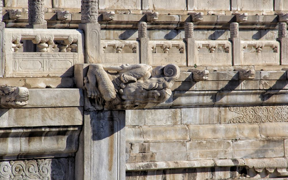 Photo in Architecture #forbidden city #china #water spout