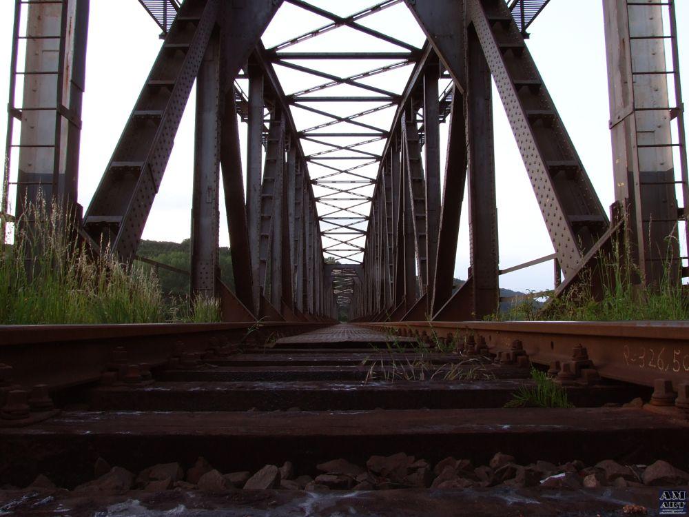Photo in Industrial #railroad #bridge #weser #railroad bridge