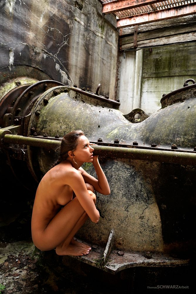 Photo in Nude #beautiful #girl #woman #beauty #machine #underground #old #lost