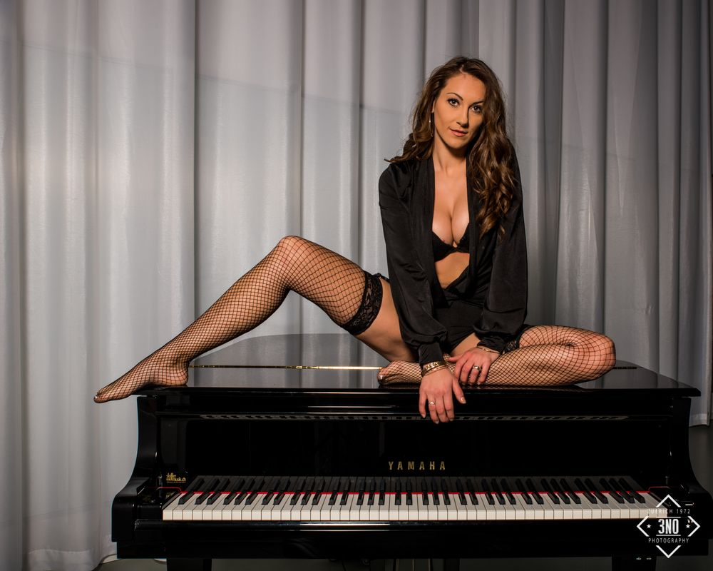Photo in Fashion #model #piano #lingerie