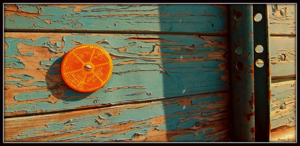 Photo in Random #blue #light #orange #wood #colours #paint