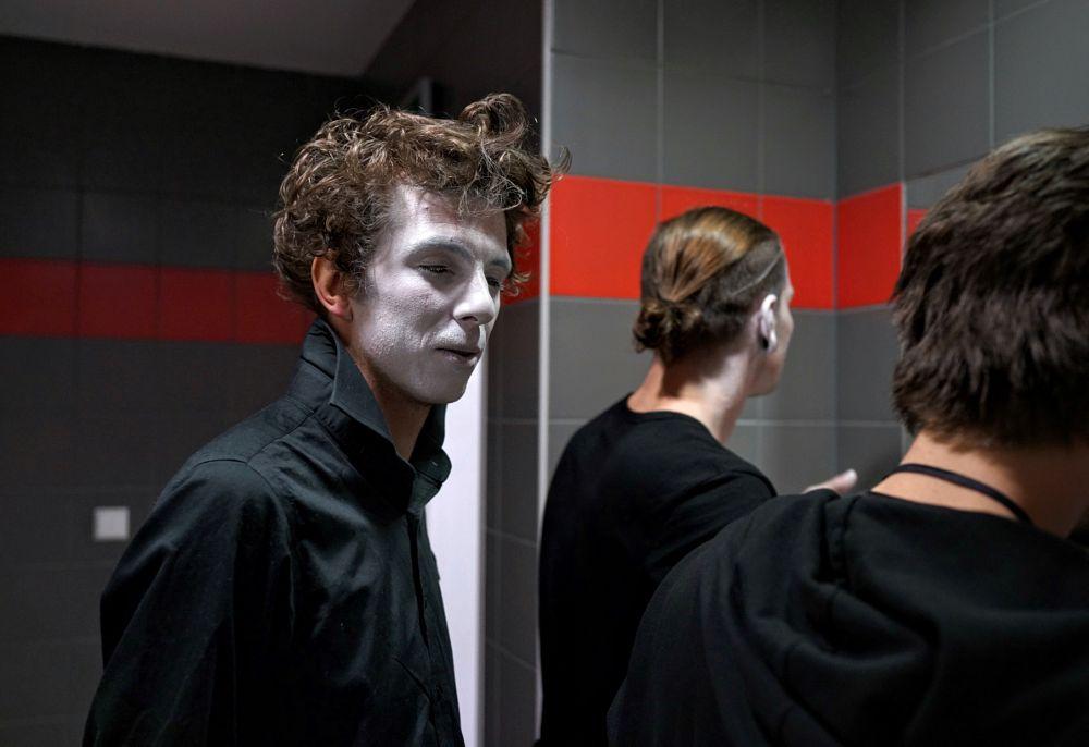 Photo in Street Photography #warsaw #face #makeup #actor #man #people #poland #ignacy50.pl #sklepzfotografia.pl