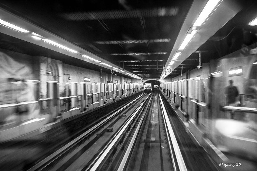 Photo in Street Photography #station #transportation #metro #tube #underground #people #passangers #comunication #city #speed #train #blackandwhite #monochrome #ignacy50
