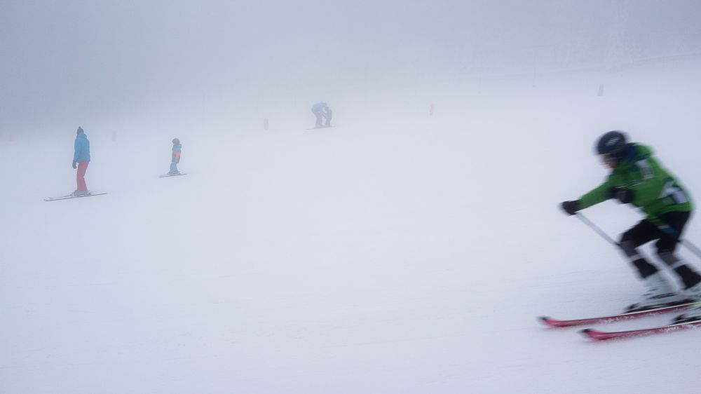 Photo in Sports #ski #snow #sport #skiing #fog #mountains #poland #ignacy50