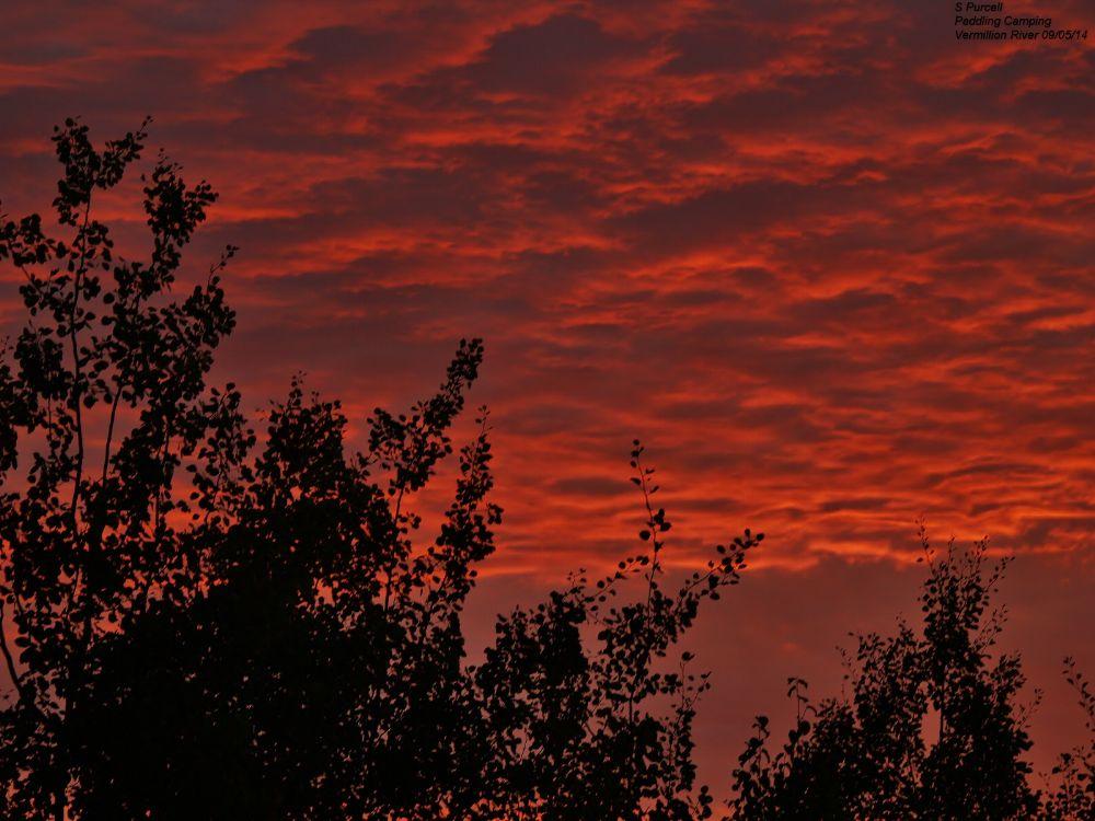 Photo in Nature #sunset #vermillion river #ontario
