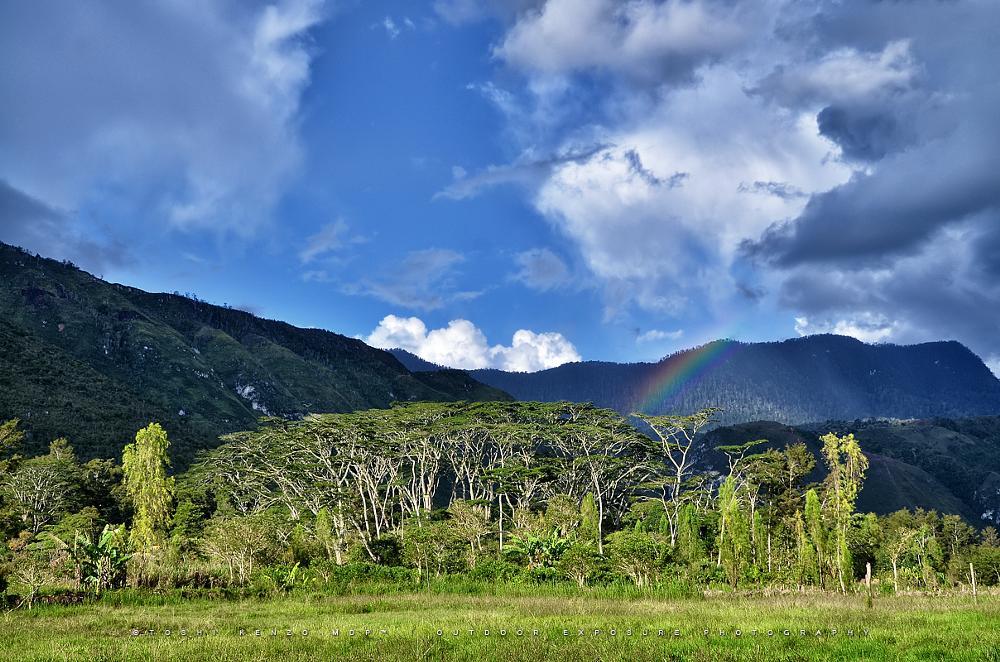 Photo in Landscape #wamena #balliem #valley #rainbow #village